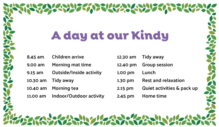 SCK flyer  Our Kindy Day  Web